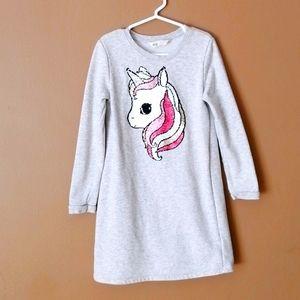 H&M Unicorn dress sweater